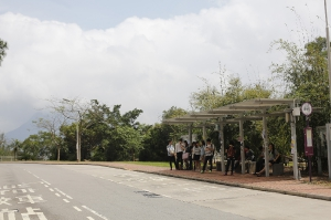 Bus stop at United College